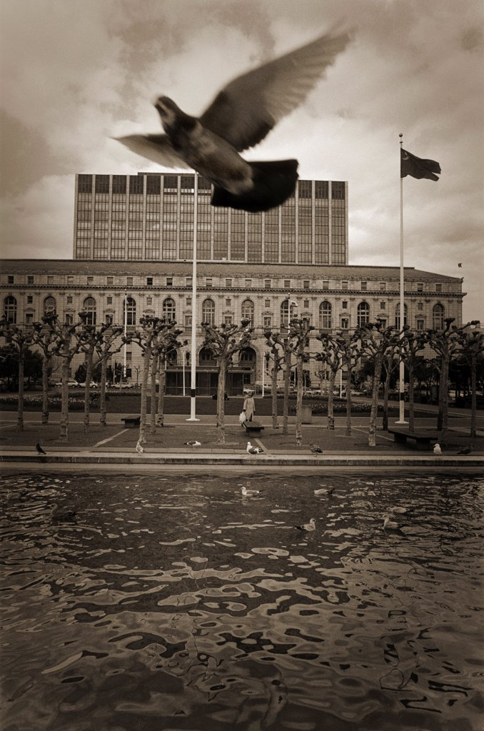 Stock Photo: 1838-13852 Civic Center Plaza, San Francisco, California, USA