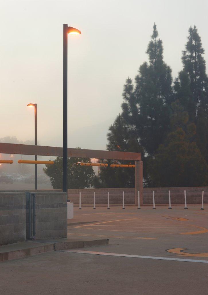 Stock Photo: 1838-13859 Empty Parking Lot at Dusk