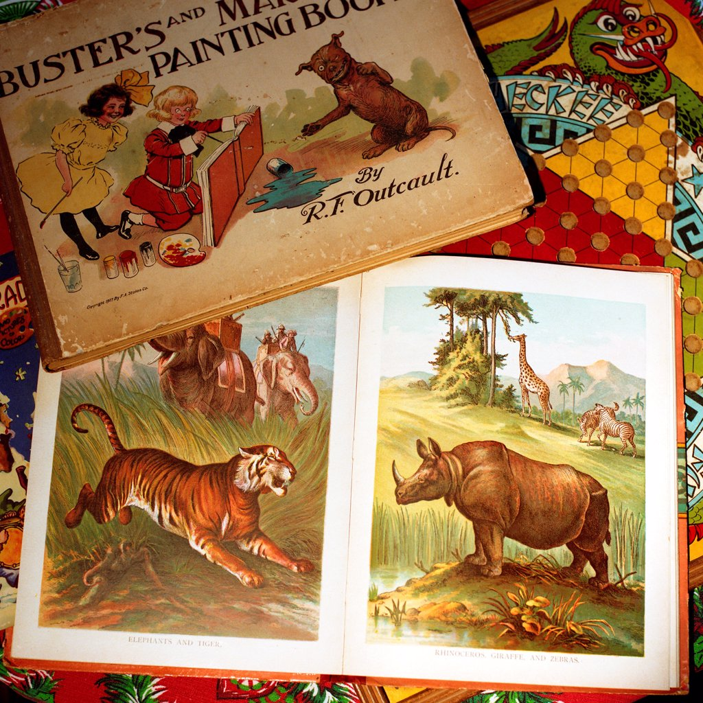 Stock Photo: 1838-13931 Vintage Children's Books