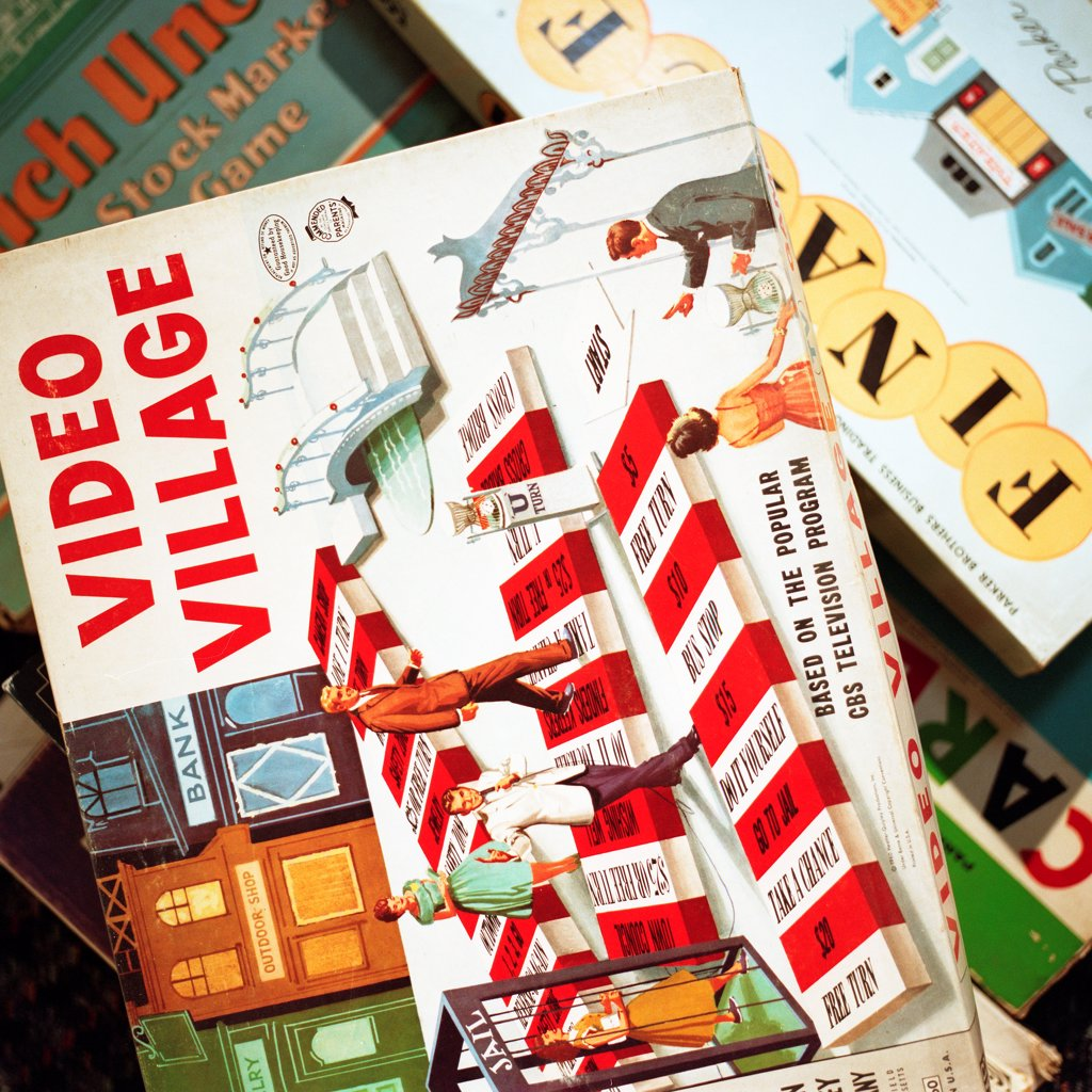 Vintage Board Games : Stock Photo