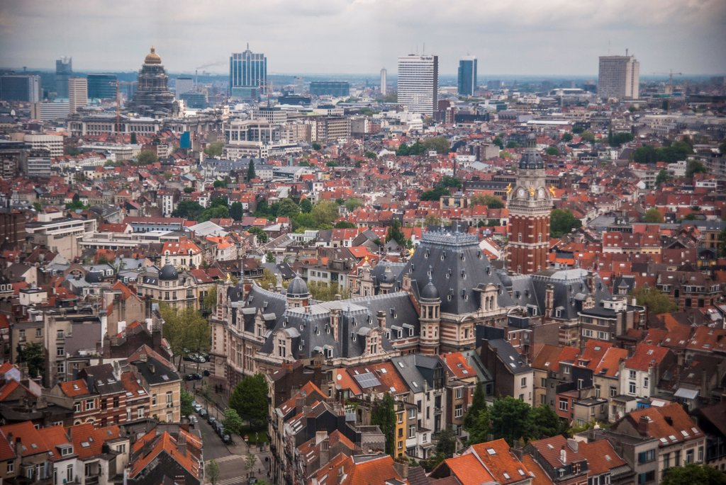 High Angle View of Brussels, Belgium : Stock Photo