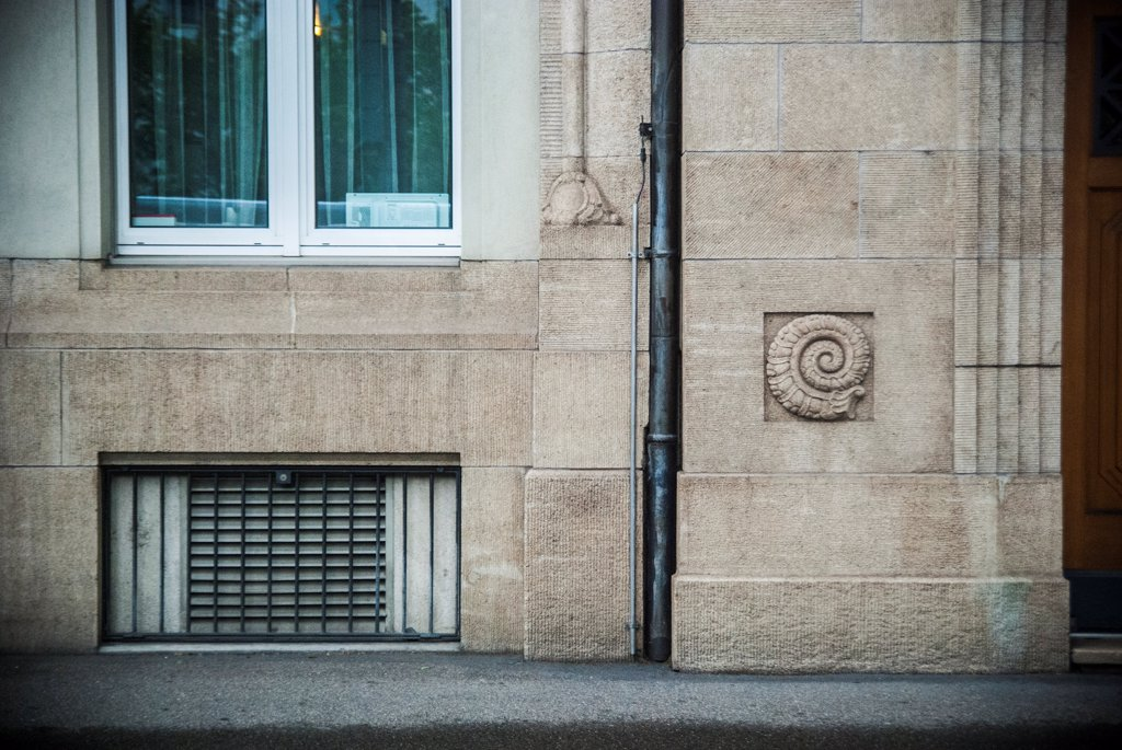 Stock Photo: 1838-13941 Exterior Architectural Detail, Zurich, Switzerland
