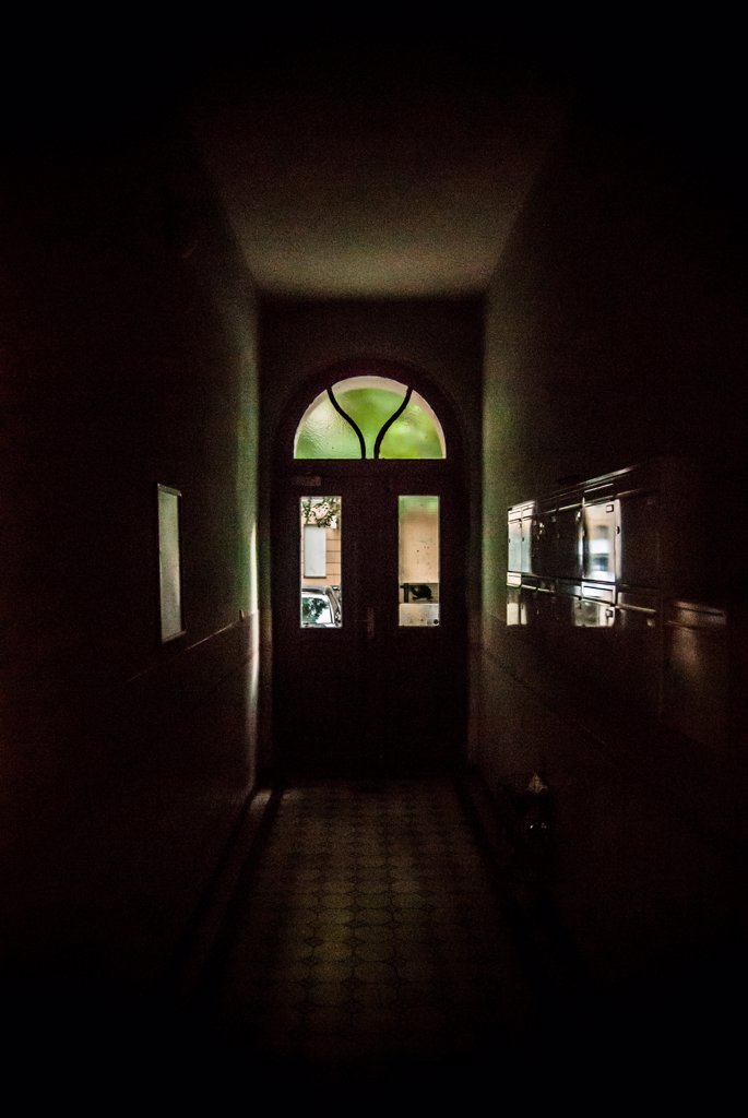 Dark Hallway and Entrance : Stock Photo