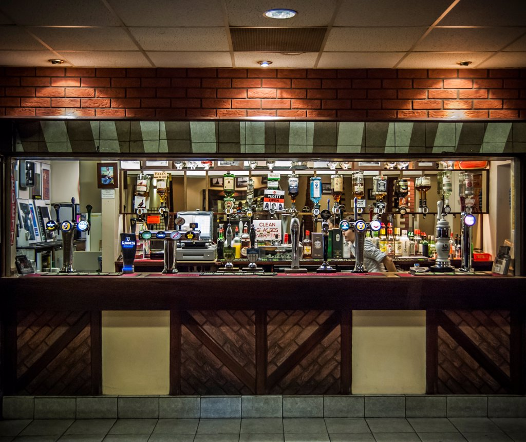 Bar Interior, Leeds, England, UK : Stock Photo
