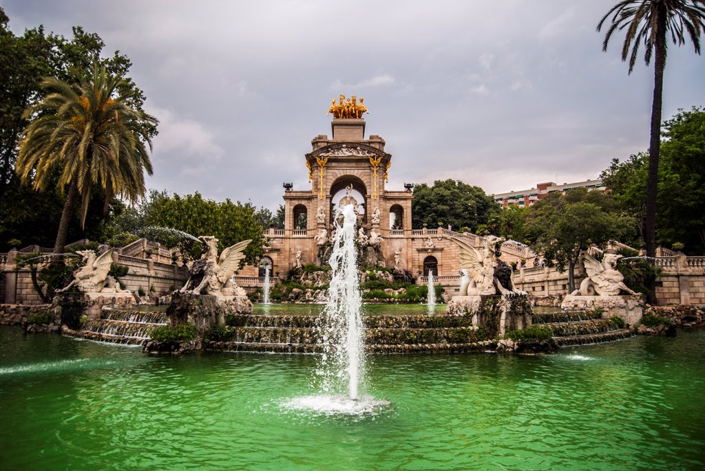 Parc de la Ciutadella Fountain, Barcelona, Spain : Stock Photo