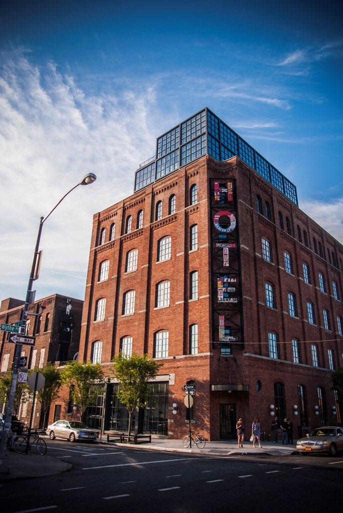 Exterior of Wythe Hotel, Williamsburg, Brooklyn NY : Stock Photo