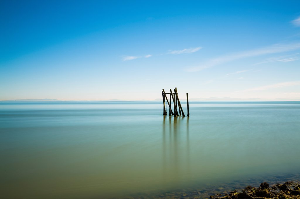 Stock Photo: 1838-14074 Seascape With Old Dock