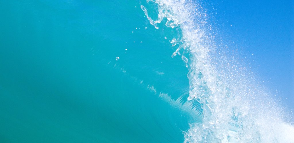 Stock Photo: 1838-14120 Blue Breaking Wave 2