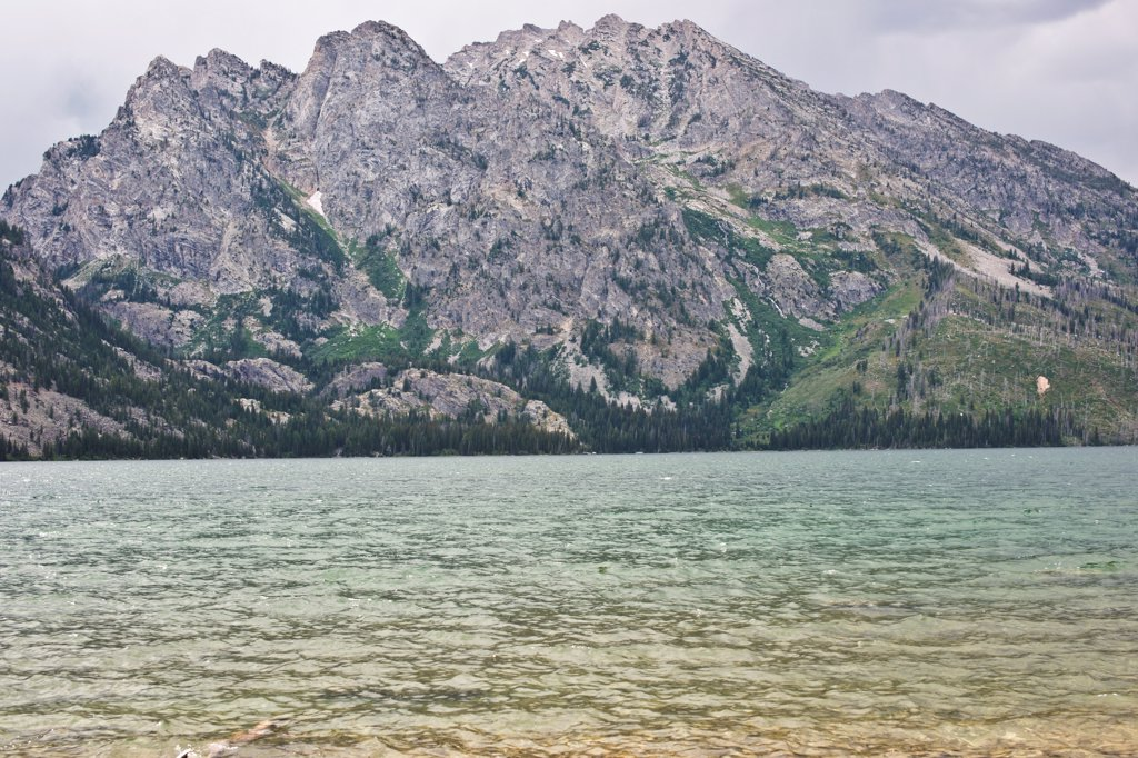 Stock Photo: 1838-14204 Mountains and Lake, Grand Teton National Park, Wyoming, USA