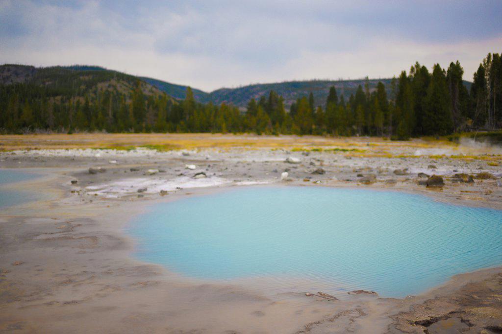 Sulfur Pool, Yellowstone National Park, USA : Stock Photo