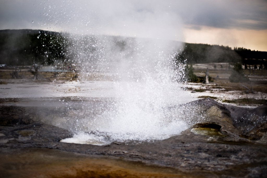 Stock Photo: 1838-14208 Geyser, Yellowstone National Park, USA