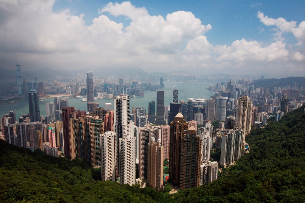 Skyline During Day, Hong Kong, China : Stock Photo