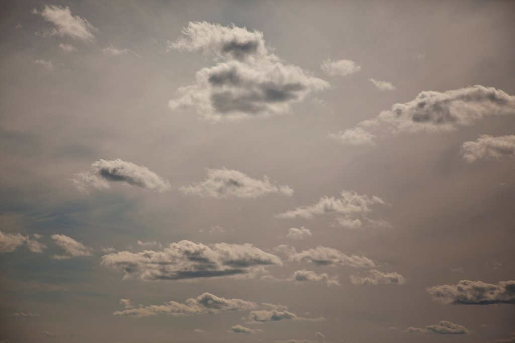Scattered Clouds at Dusk : Stock Photo