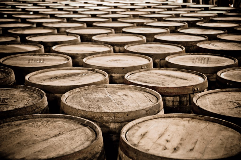 Stock Photo: 1838-14397 Whiskey Barrels