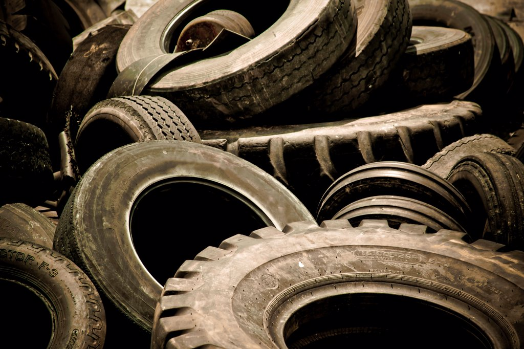 Pile of Truck Tires : Stock Photo