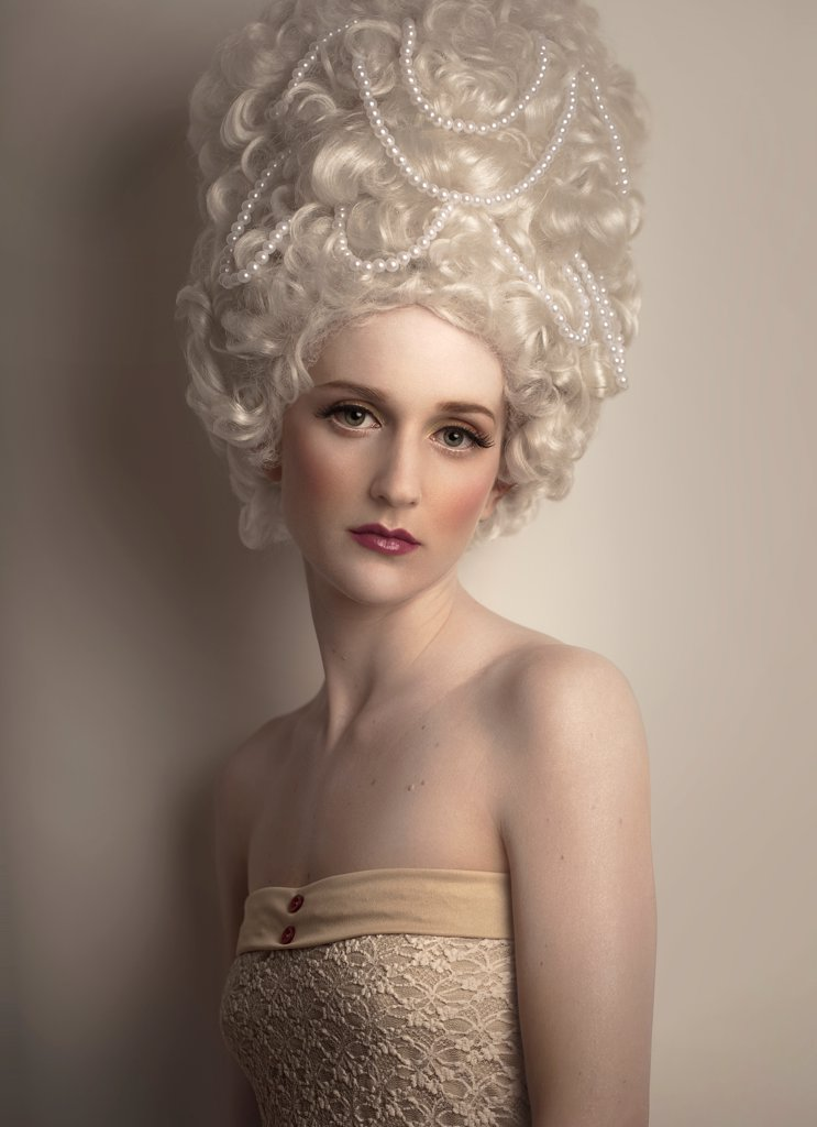 Stock Photo: 1838-14421 Woman in White Wig