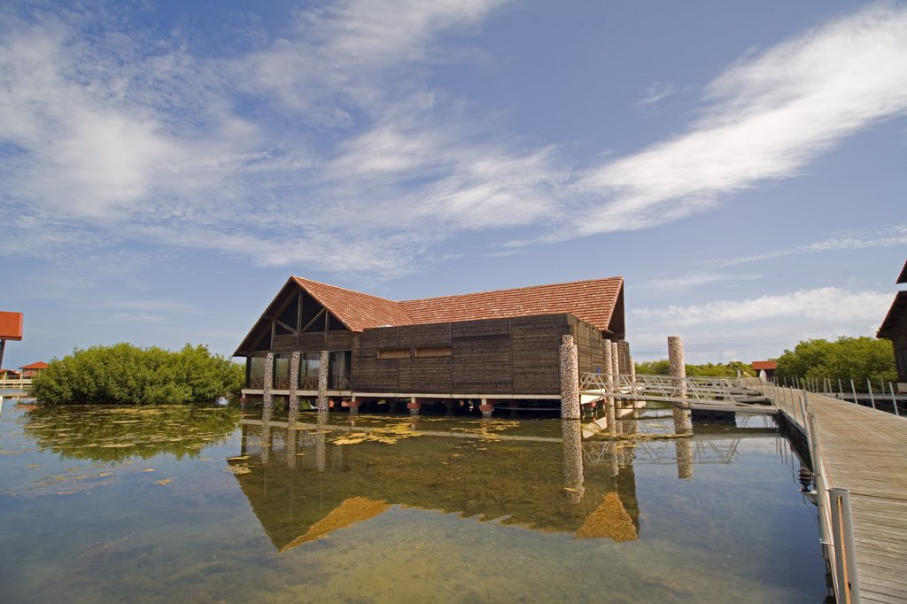 Stock Photo: 1838-2521 Cabin on Lagoon