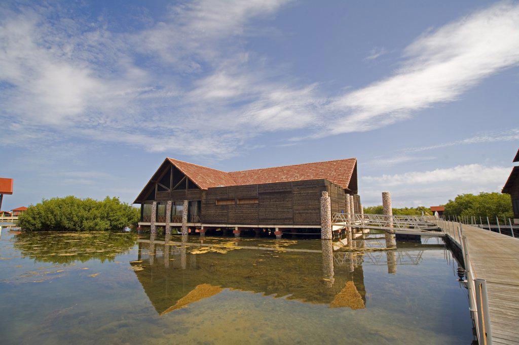 Cabin on Lagoon : Stock Photo