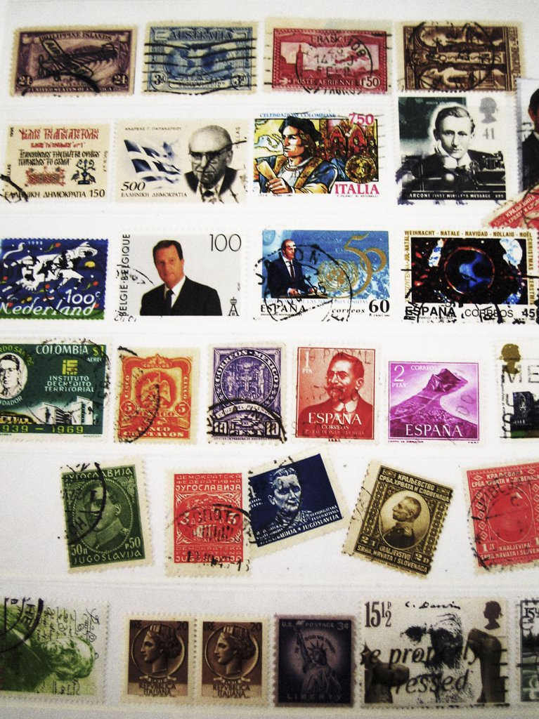 Foreign Stamp Collection : Stock Photo