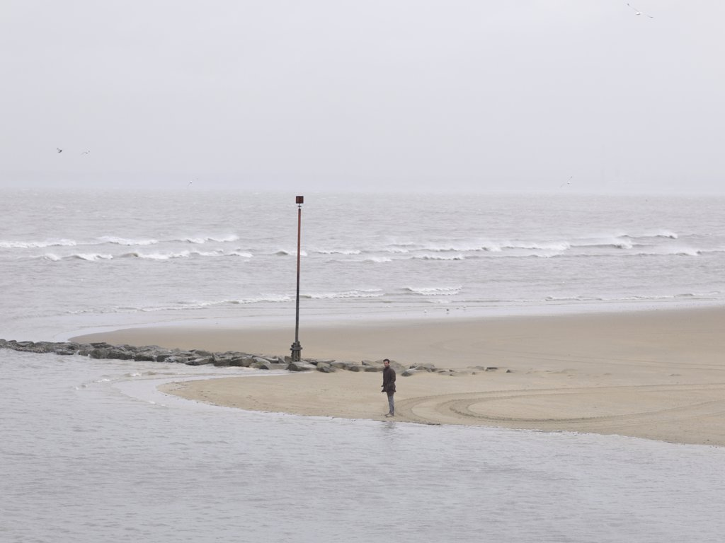 Stock Photo: 1838-8721 Man Alone at Beach