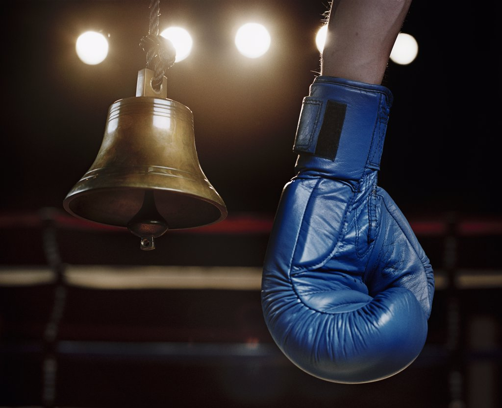 Boxing Glove and Bell : Stock Photo