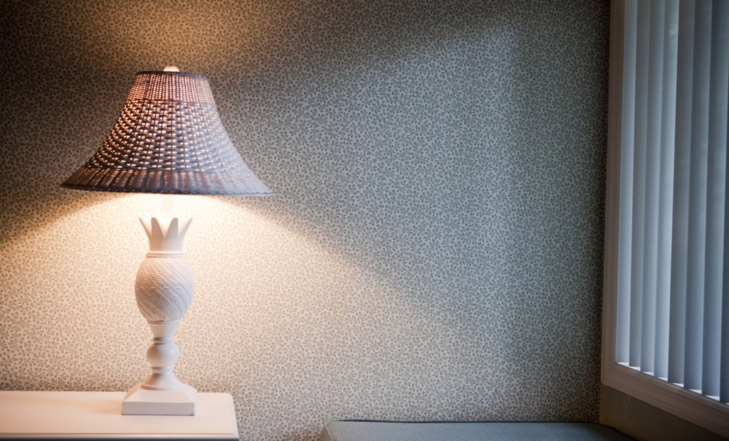 Stock Photo: 1838-9426 Hotel Room Lamp