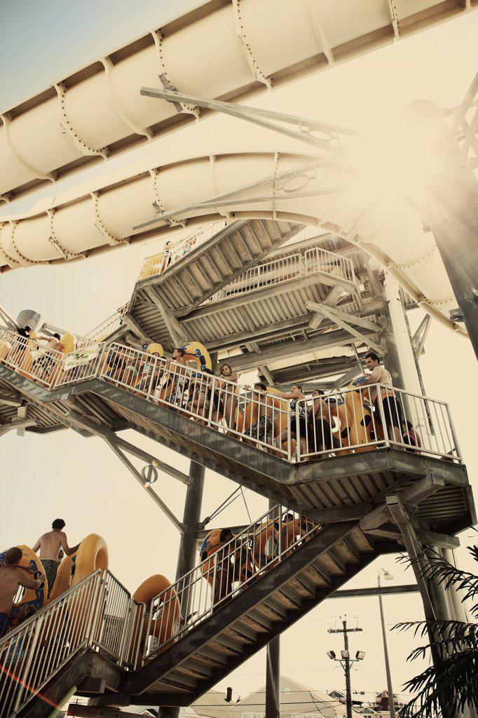 Stock Photo: 1838-9541 Water Slide Line, New Jersey, USA