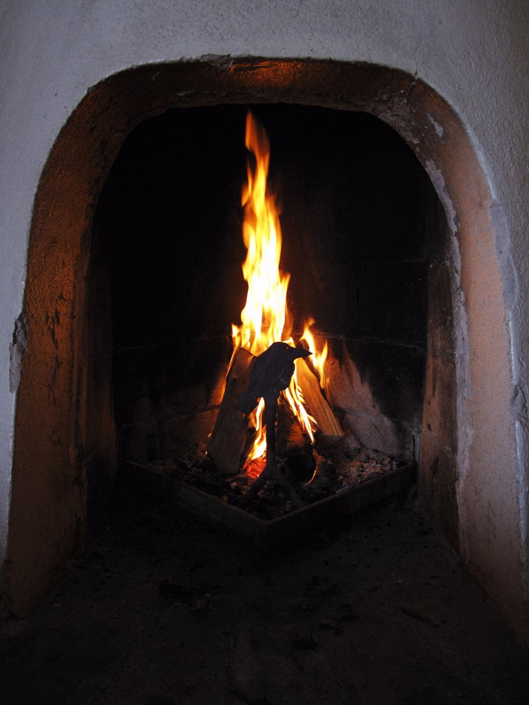 Stock Photo: 1838-9933 Fireplace and Fire