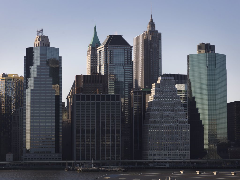Stock Photo: 1838-9990 Downtown Skyline, New York City, USA