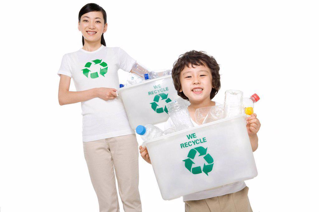 Portrait of eco_friendly kids : Stock Photo