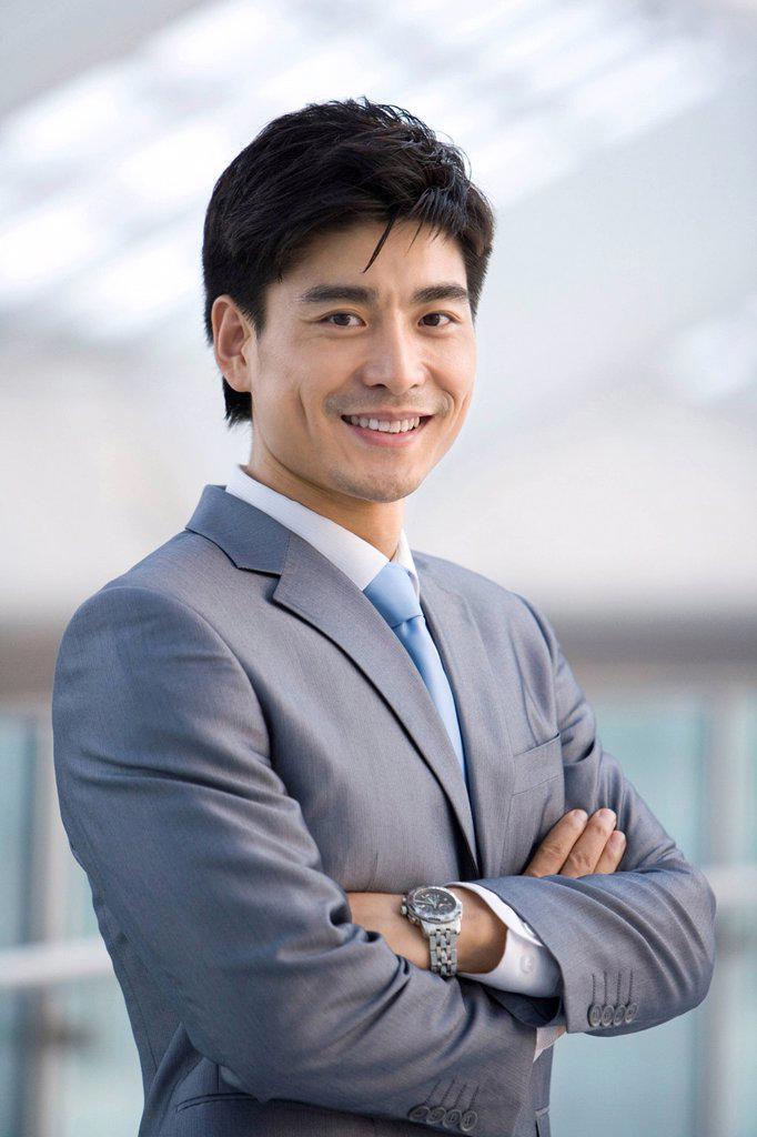Stock Photo: 1839R-11917 Portrait of businessman