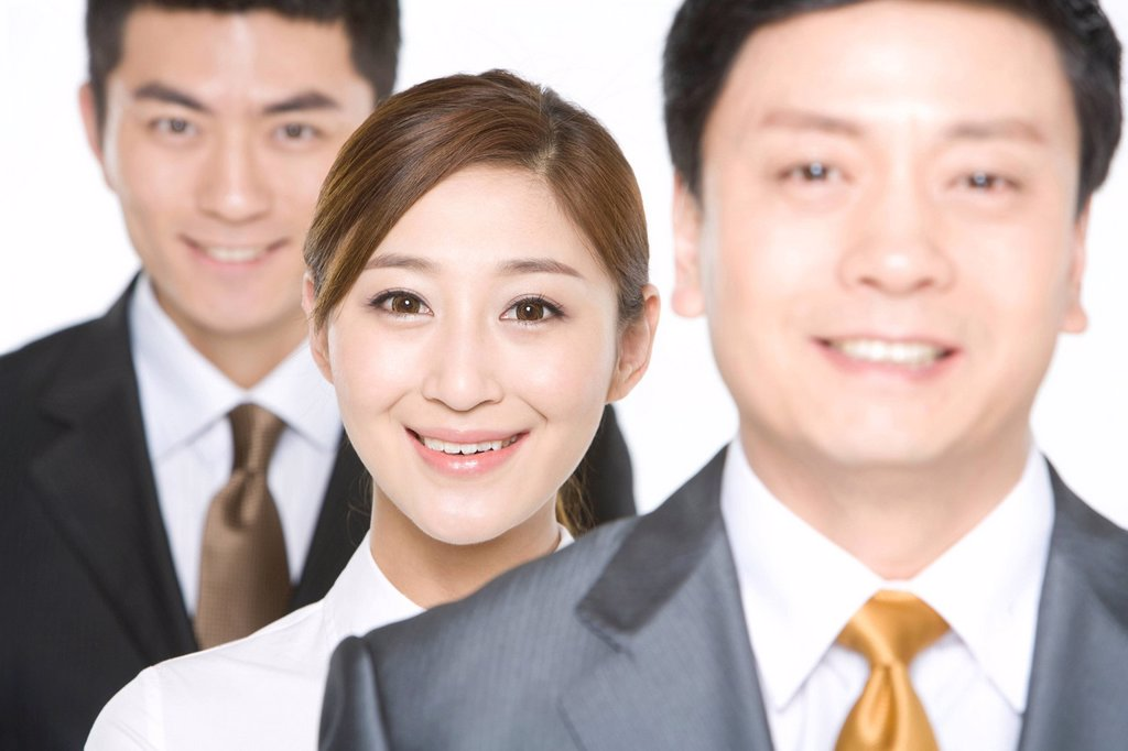 Business people in a row : Stock Photo