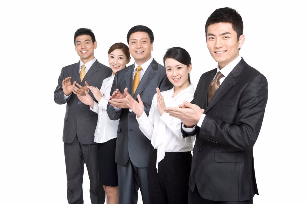 Stock Photo: 1839R-16119 Business people in a row