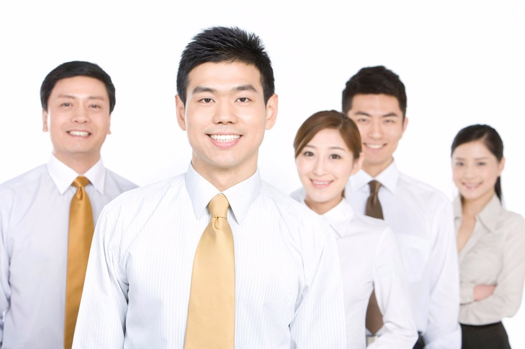 Stock Photo: 1839R-16128 A group of business people