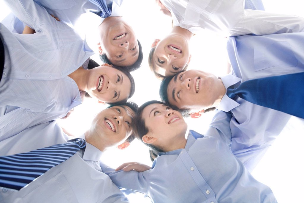 Stock Photo: 1839R-16167 A circle of business people