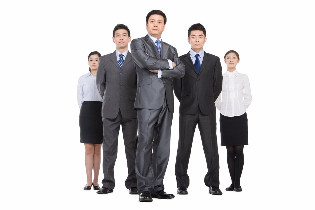 Stock Photo: 1839R-16237 A group of business people