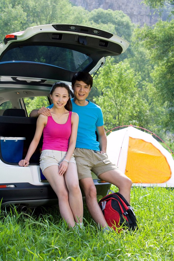Stock Photo: 1839R-18007 Couple on a camping trip