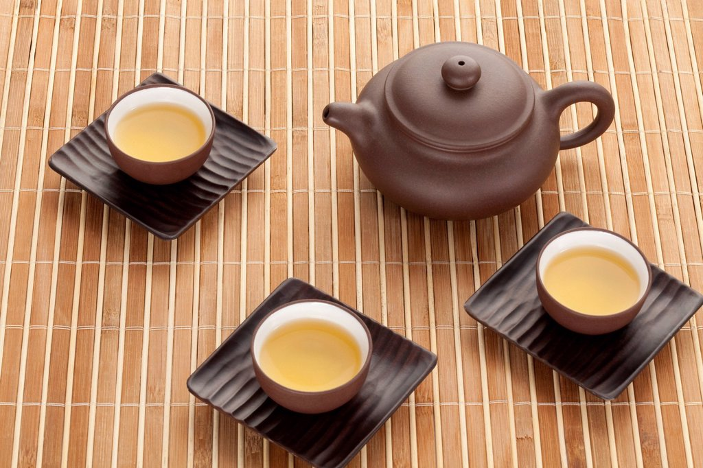 Stock Photo: 1839R-20093 Tea and tea set