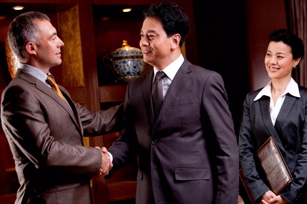 Businessmen shaking hands : Stock Photo