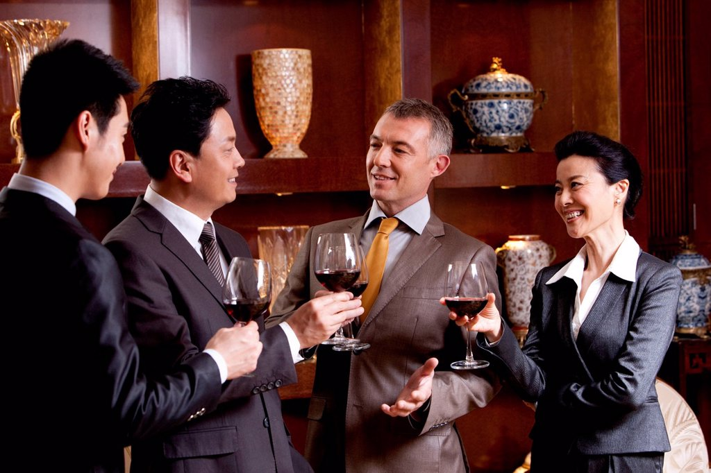 Stock Photo: 1839R-20155 Businessmen toast for celebration