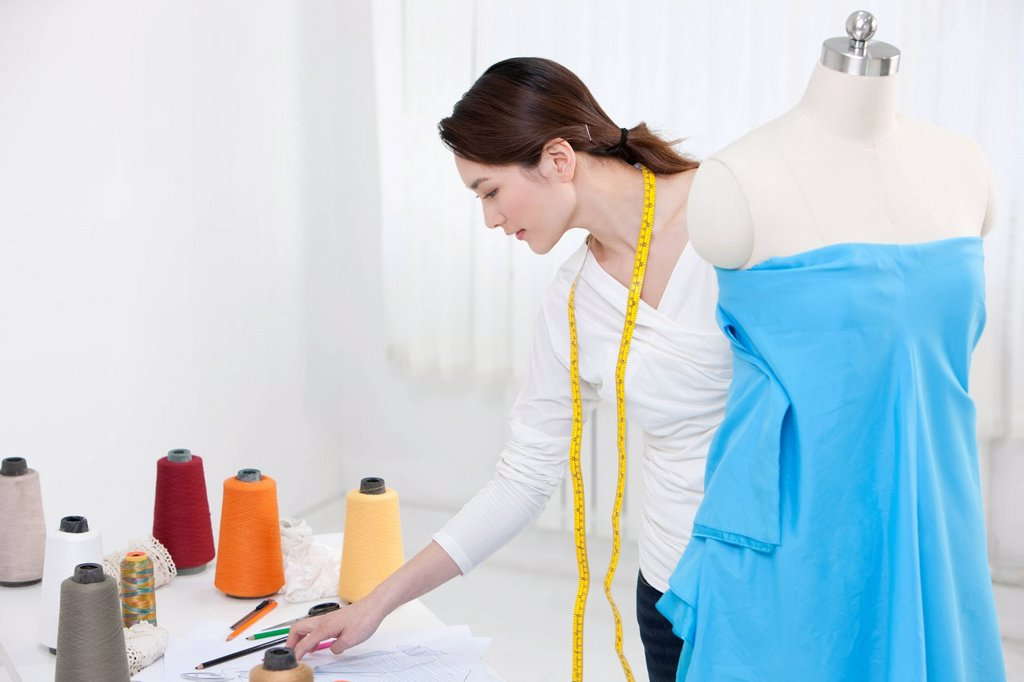Stock Photo: 1839R-22436 Fashion designer in work
