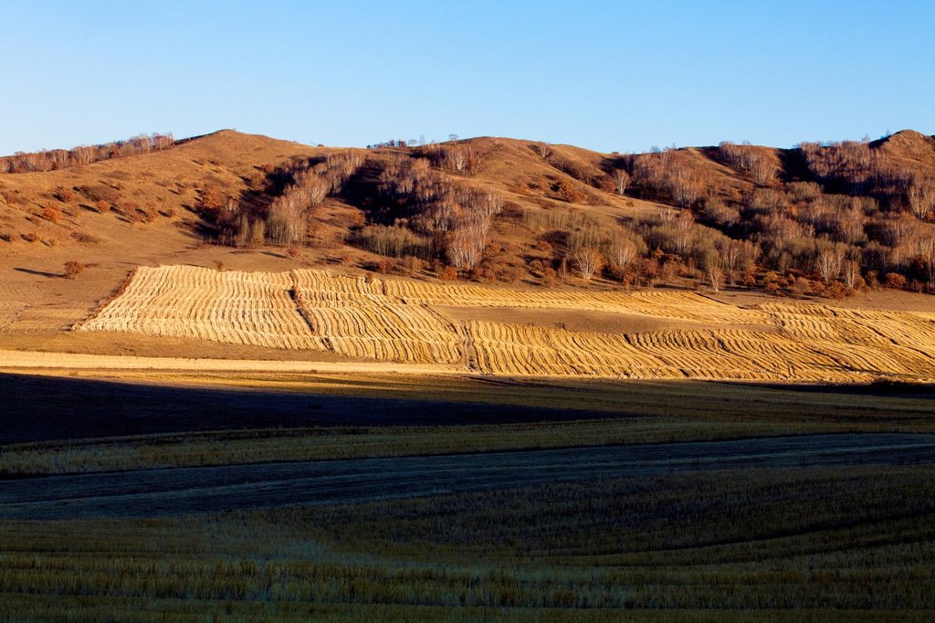 Stock Photo: 1839R-22563 View of Inner Mongolia´s hills