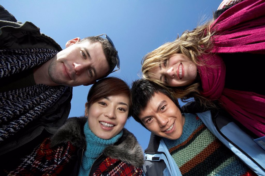 Stock Photo: 1839R-2288 Young People Smiling At Camera