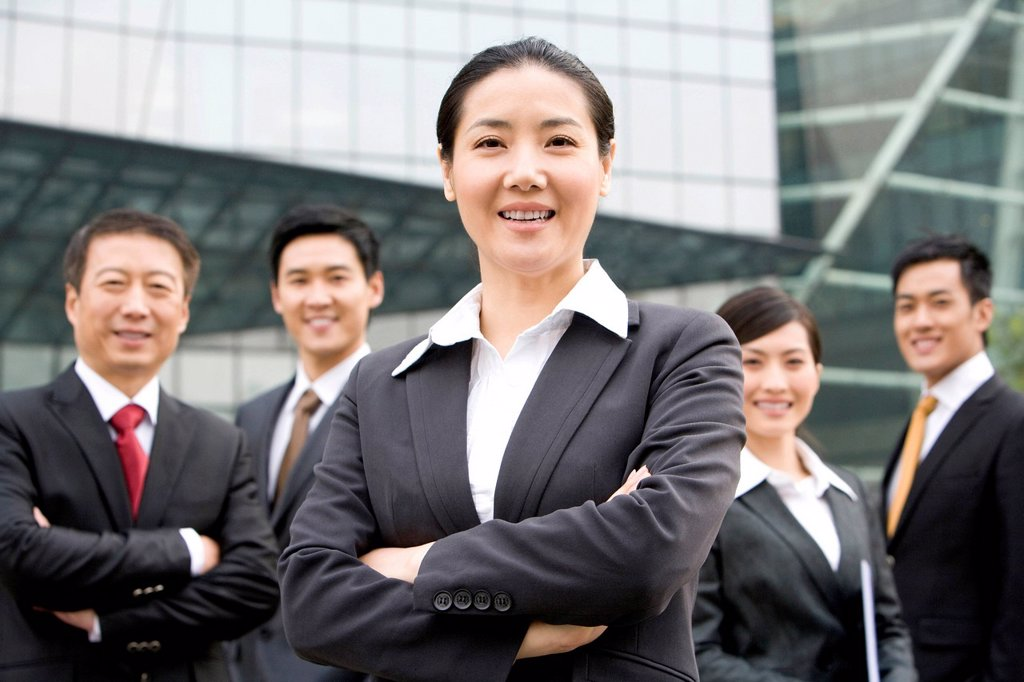 Stock Photo: 1839R-24926 A team of business partners