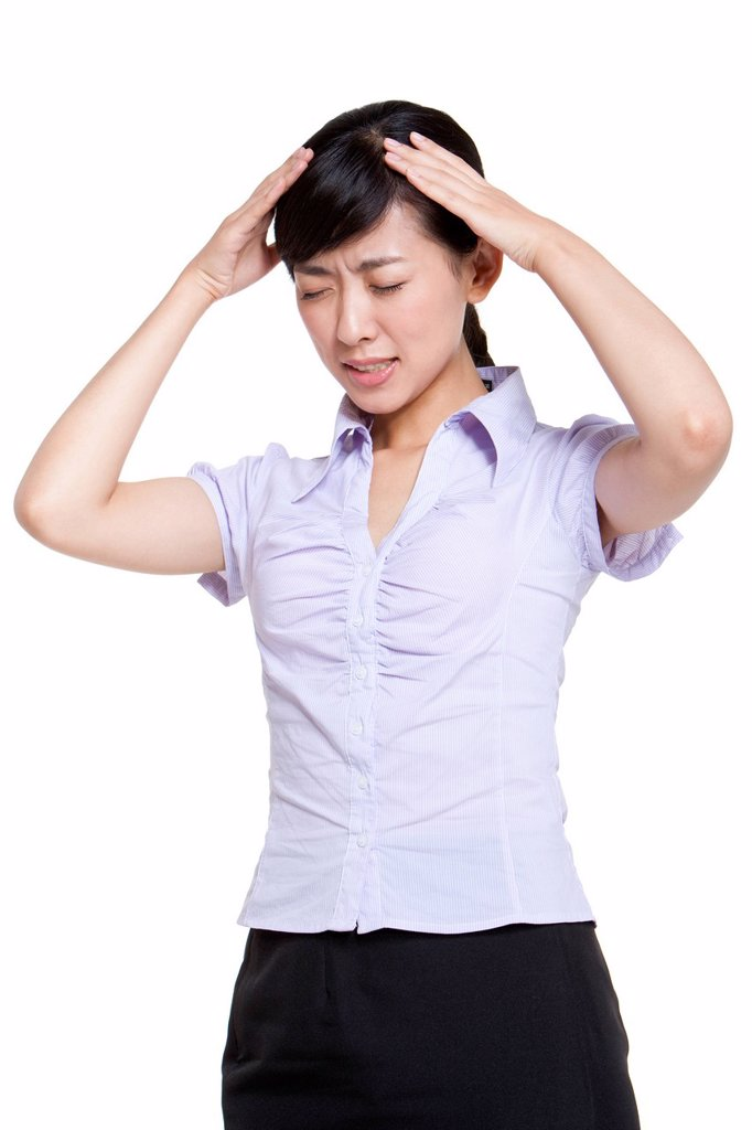 Stock Photo: 1839R-25264 Businesswoman with a Headache