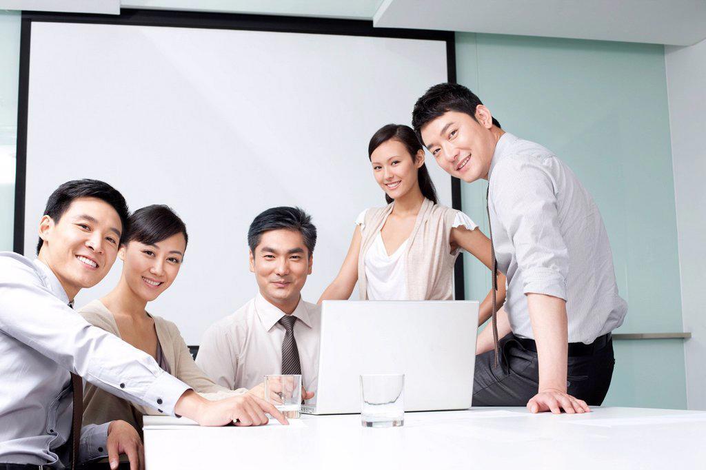 Stock Photo: 1839R-27509 Portrait of a Confident Business Team