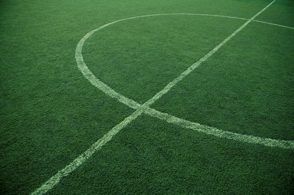 Landscape Of Soccer Field : Stock Photo