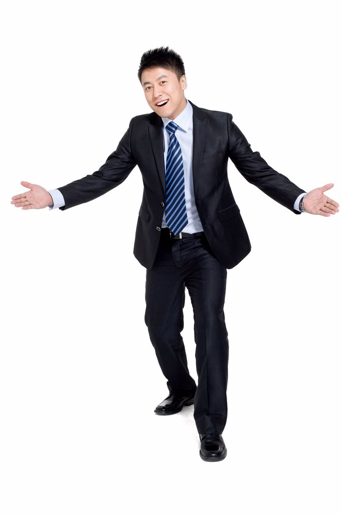 Portrait of a happy businessman : Stock Photo