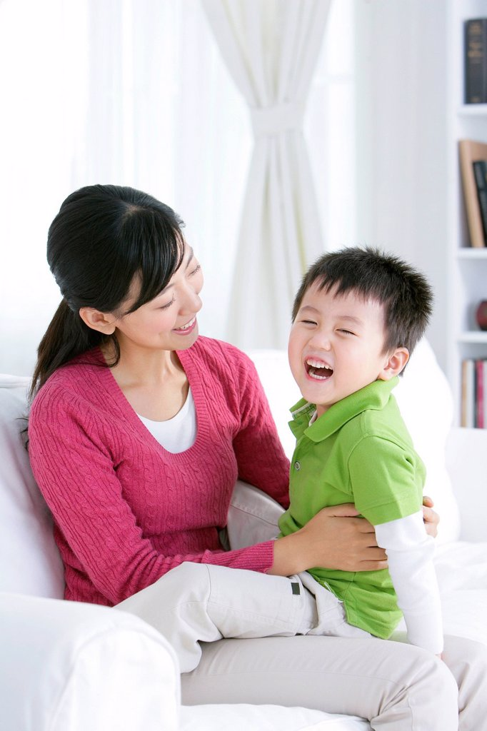Stock Photo: 1839R-29339 Chinese mother and son