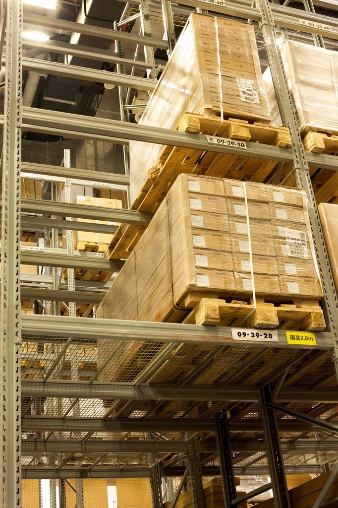Warehouse boxes : Stock Photo